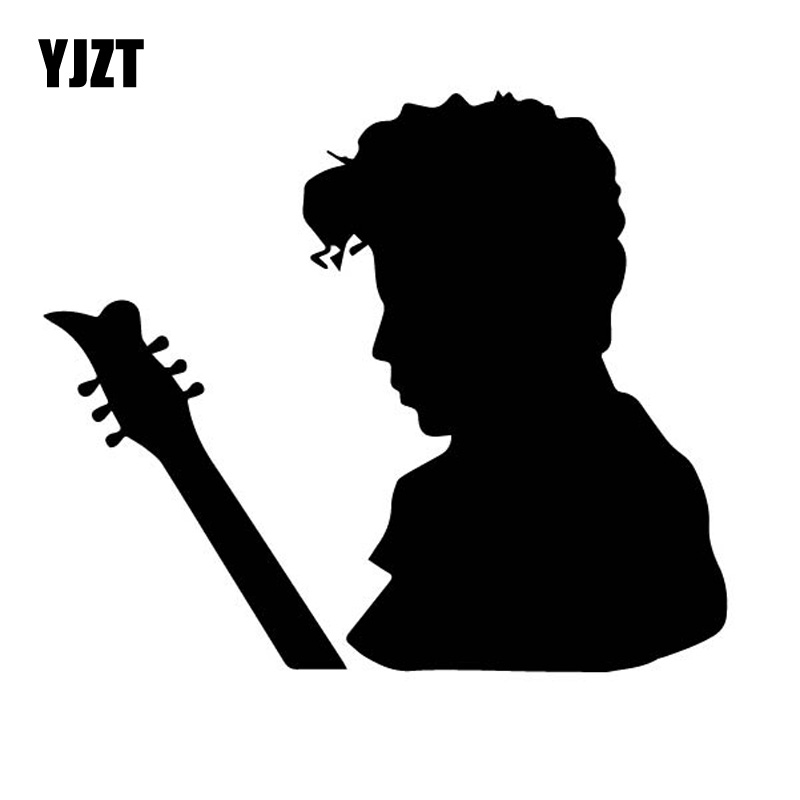 YJZT 14CM*11.9CM Shadow The Artist American Singer Vinly Decal Prince Rogers Nelson Car Sticker Nostalgic Black/Silver C27-0544