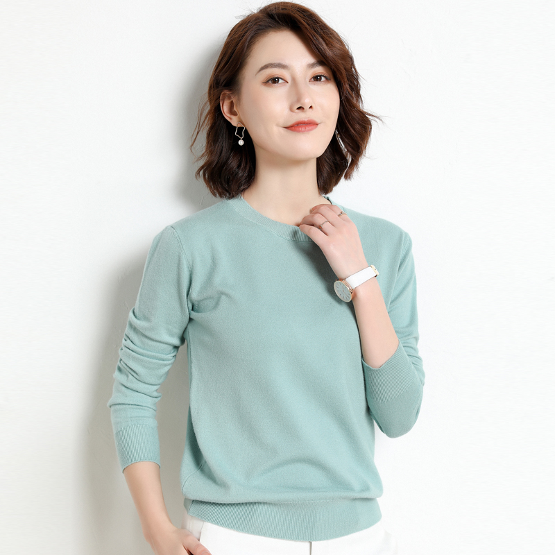 Ladies Knitted Sweater Women Pullovers Knit Jumper Spring Autumn Basic Women Sweaters Pullover Soft Slim Fit Top Knitwear Female