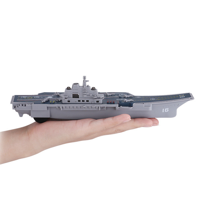 Electric Plastic Mini Aircraft Carrier Children Toy Model Birthday Gifts w/Light 3