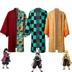 Demon Slayer: Kimetsu no Yaiba Kamado Tanjirou Agatsuma Zenitsu Tomioka Giyuu Cosplay Cloak Halloween Costume Party Cape