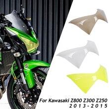Motorcycle Front Headlight Lens Cover Protector Guard for Kawasaki Z800 Z300 Z250 2013 2014 2015 motorcycle headlight front headlamp light fits 2013 2014 for kawasaki z800 z250 dedicated
