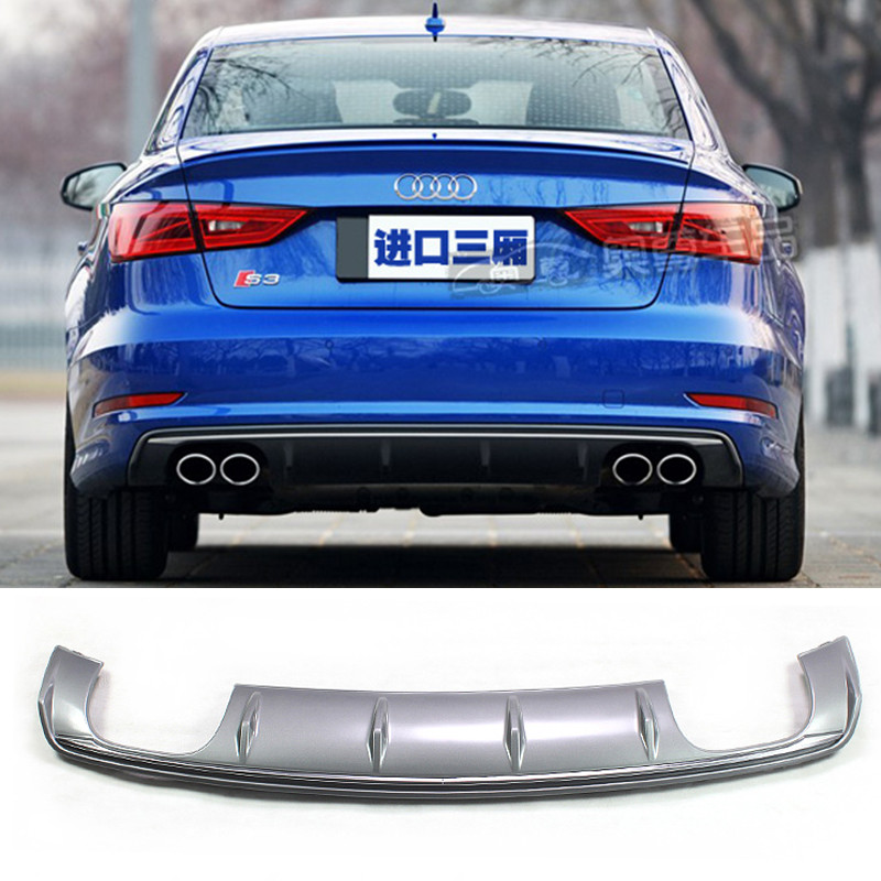 <font><b>A3</b></font> S3 Style PP Auto Car <font><b>Rear</b></font> Bumper Lip <font><b>Diffuser</b></font> for <font><b>Audi</b></font> <font><b>A3</b></font> Sedan 2014-<font><b>2016</b></font> Only Standard Bumper image