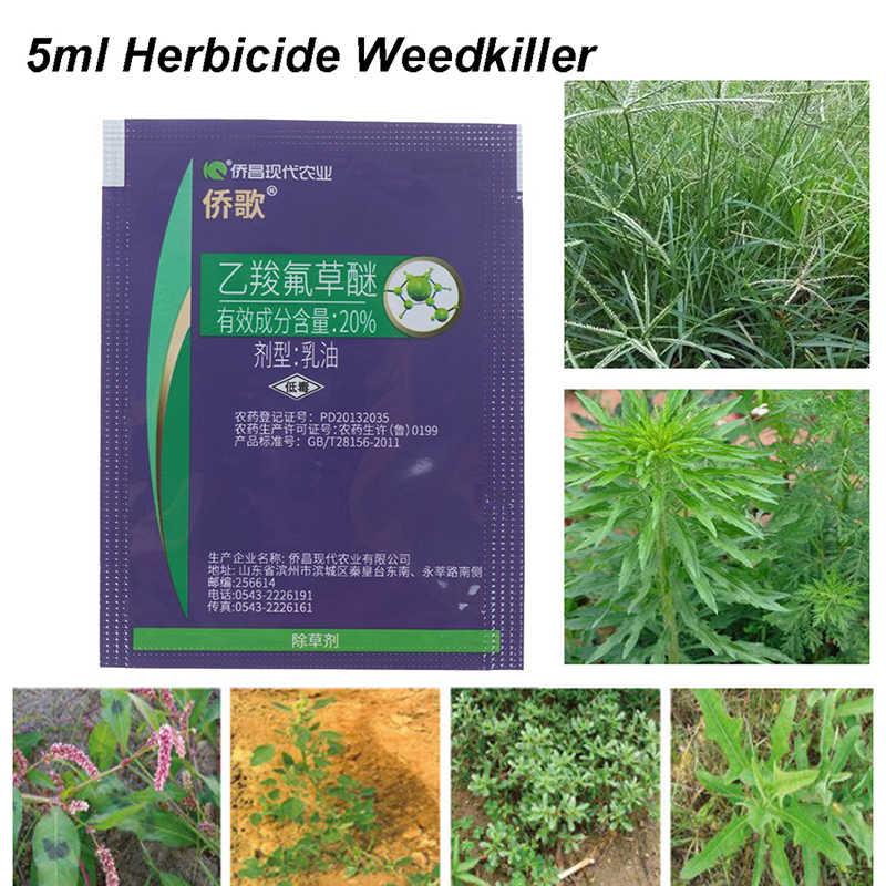 5 ml Herbizid Fluoroglycofen Entfernen Laubbaum Unkraut Töten Gras Emulgierbar Öl Flüssige Pestizid Geschenk Dropper