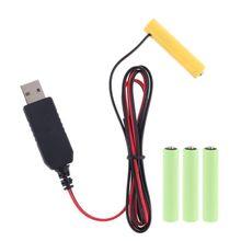 LR03 AAA Batterie Eliminator USB Netzteil Kabel Ersetzen 1 zu 4 stücke AAA Batterie