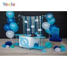 Yeele 1 день Рождения Вечеринка фотозоны воздушные шары Игрушка автомобиль фотографии фоны персонализированные фотографии фоны для фотостудии