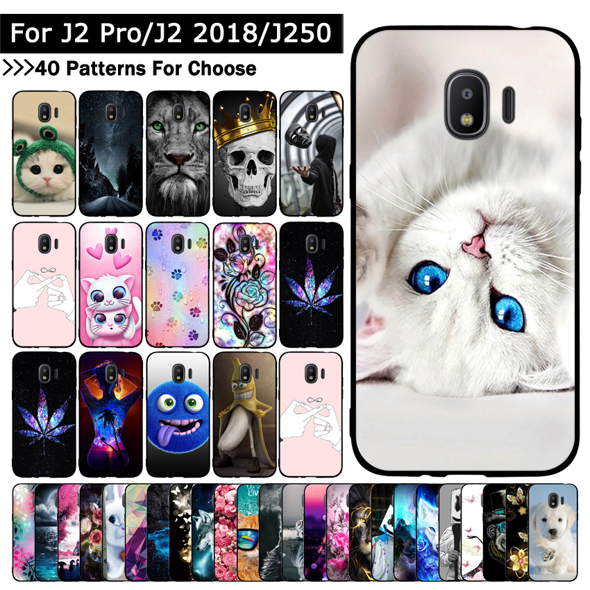 Case For <font><b>Samsung</b></font> Galaxy Grand Prime Pro/<font><b>J2</b></font> Pro 2018/<font><b>J2</b></font> 2018/J250 Animal Cat Printing Cases Protective covers phone shells bags image