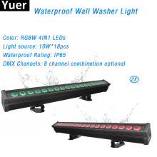 2Pcs/Lot 10W RGBW LED Waterproof Stage Light AC100-220V Bar DJ Party Staining Light Wall Washer Light 4IN1 LED Effect Lights