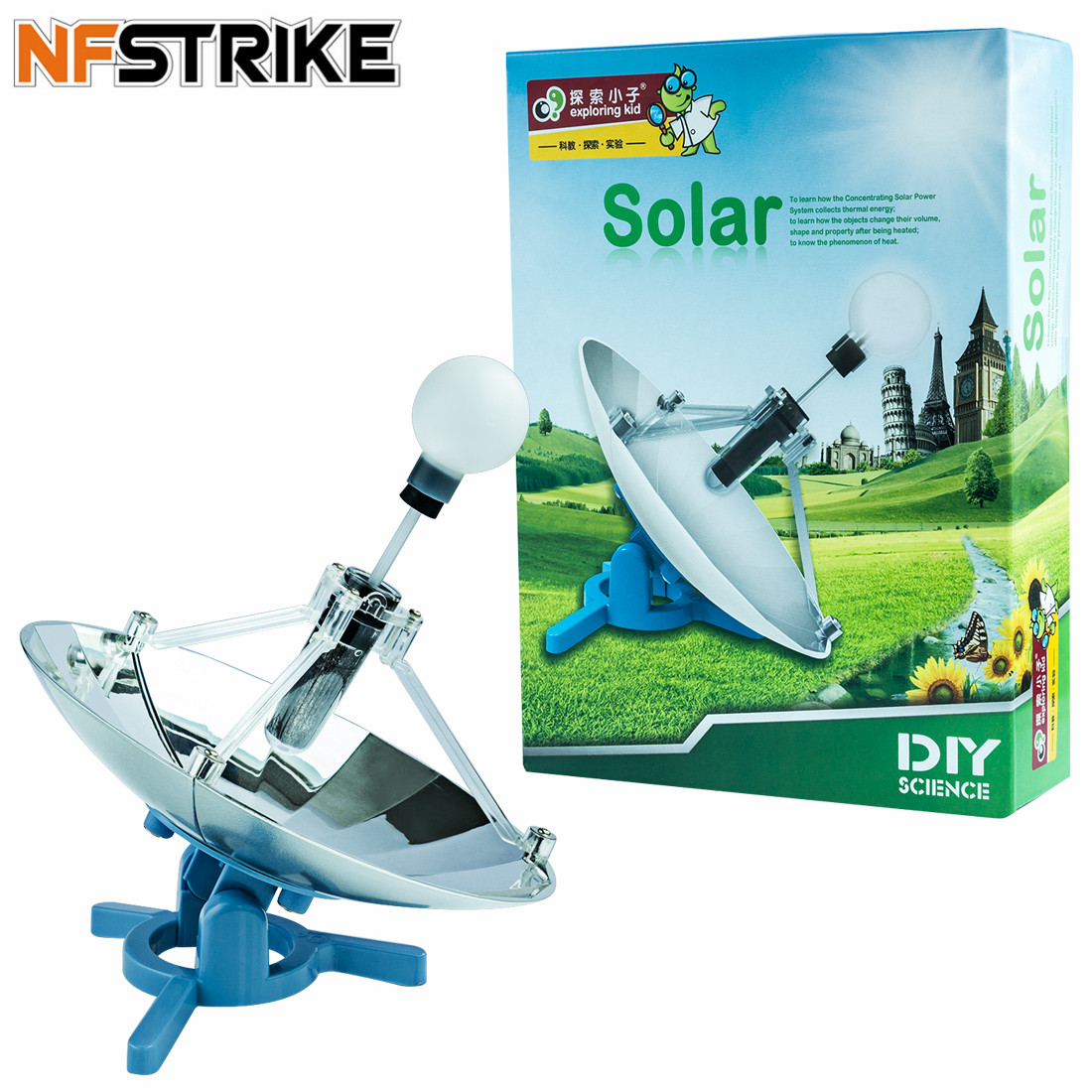 Assembly Parts Of Solar Energy Science Experiment For Kids Children Classic Traditional Science Educational Learning Toy 2018