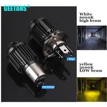 Ampoules de phares de Moto LED H6 BA20D H4, faisceau Hi Lo, Kit de Conversion de lampes, 3000K 6000K CJ