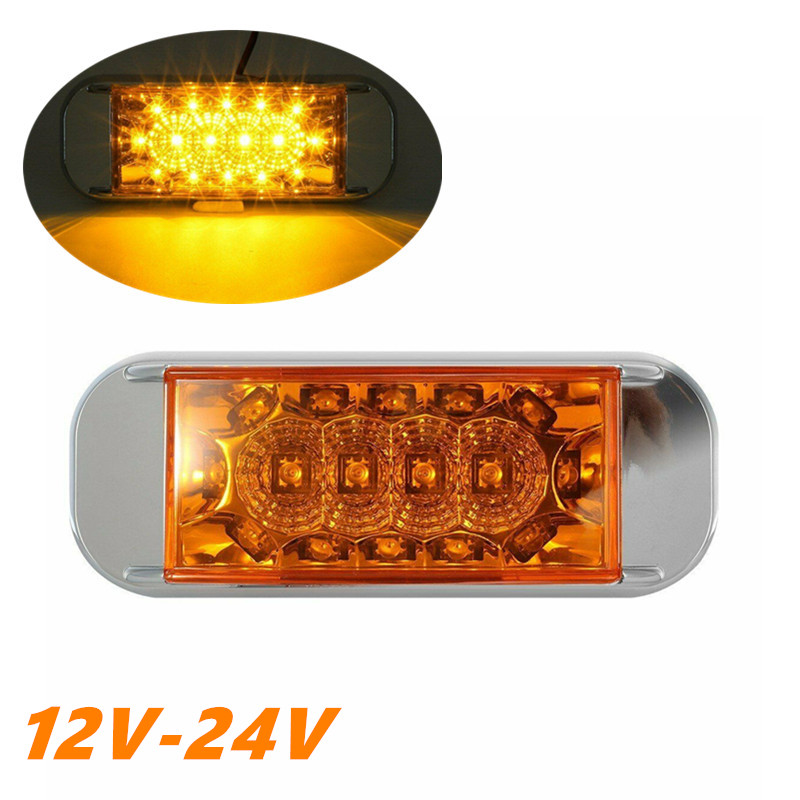 1PCS Truck LED Lights Side Marker Truck Trailer Clearance Light Waterproof 12v LED Side Marker Trailer Lamp LED Trailer Lights