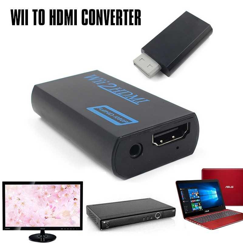 3,5 мм o Выход Джек Wii к HDMI Wii 2HDMI Full HD видеорегистратор FHD 1080P конвертер адаптер