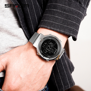 Image 5 - Relógio casal marca sinda 2019, relógio de pulso de aço da moda, com pulseira de malha de luxo, relógio de quartzo simples casual para casal