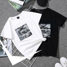 Basic Women T-shirt Summer Short Sleeve Female TShirt Tops Harajuku Lady Yong Gi