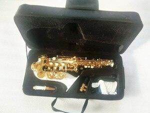 Image 5 - Yeni yüksek kaliteli soprano saksafon Beyaz saksafon Kavisli soprano saksafon Komple parçaları