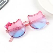 Детские солнцезащитные очки 2021, брендовые Детские очки кошачий глаз для девочек, детские солнцезащитные очки с линзами UV400, милые очки, зате...