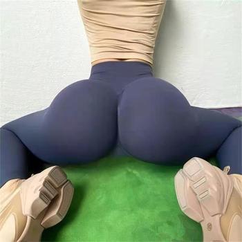 Bezszwowe spodnie jogi legginsy Push Up dla kobiet Sport Fitness joga Legging wysokiej talii anty cellulit Sport mocno trening legginsy tanie i dobre opinie HAIMAITONG CN (pochodzenie) Elastyczny pas Akrylowe WOMEN Dobrze pasuje do rozmiaru wybierz swój normalny rozmiar Yoga