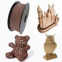 Filamento di legno PLA 1.75mm filamenti per stampanti 3D Non tossici 500g/250g/1kg sublimazione fornisce materiali di stampa 3D effetto legno