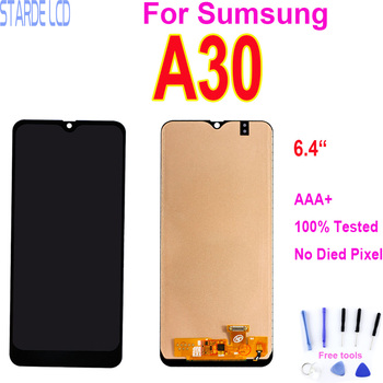 6.4LCD For Samsung Galaxy A30 LCD Display Touch Screen Panel With Frame Digitizer Glass Assembly For Samsung A305 A305/DS A305F for samsung galaxy s3 tft lcd display lcd touch screen digitizer assembly with frame for samsung galaxy s3 i9300 i9300i i9308i