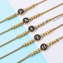 ZMZY EIN set A-Z 26 Neue Initial Armband Armreif Femme Buchstaben Charme Armbänder für Frauen Schmuck Pulseiras Geschenk Großhandel