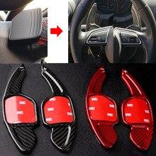 Palanca de cambio de fibra de carbono para coche, paleta de extensión de volante para Seat Alhambra /Ateca/León FR/León/León 4, 5F
