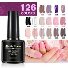 Mr Chem 8ml Glitter UV Gel Nail Polish Glitter Sequins Soak Off UV Gel Varnish Colorful Nail Gel Polish DIY Nail Art Polish