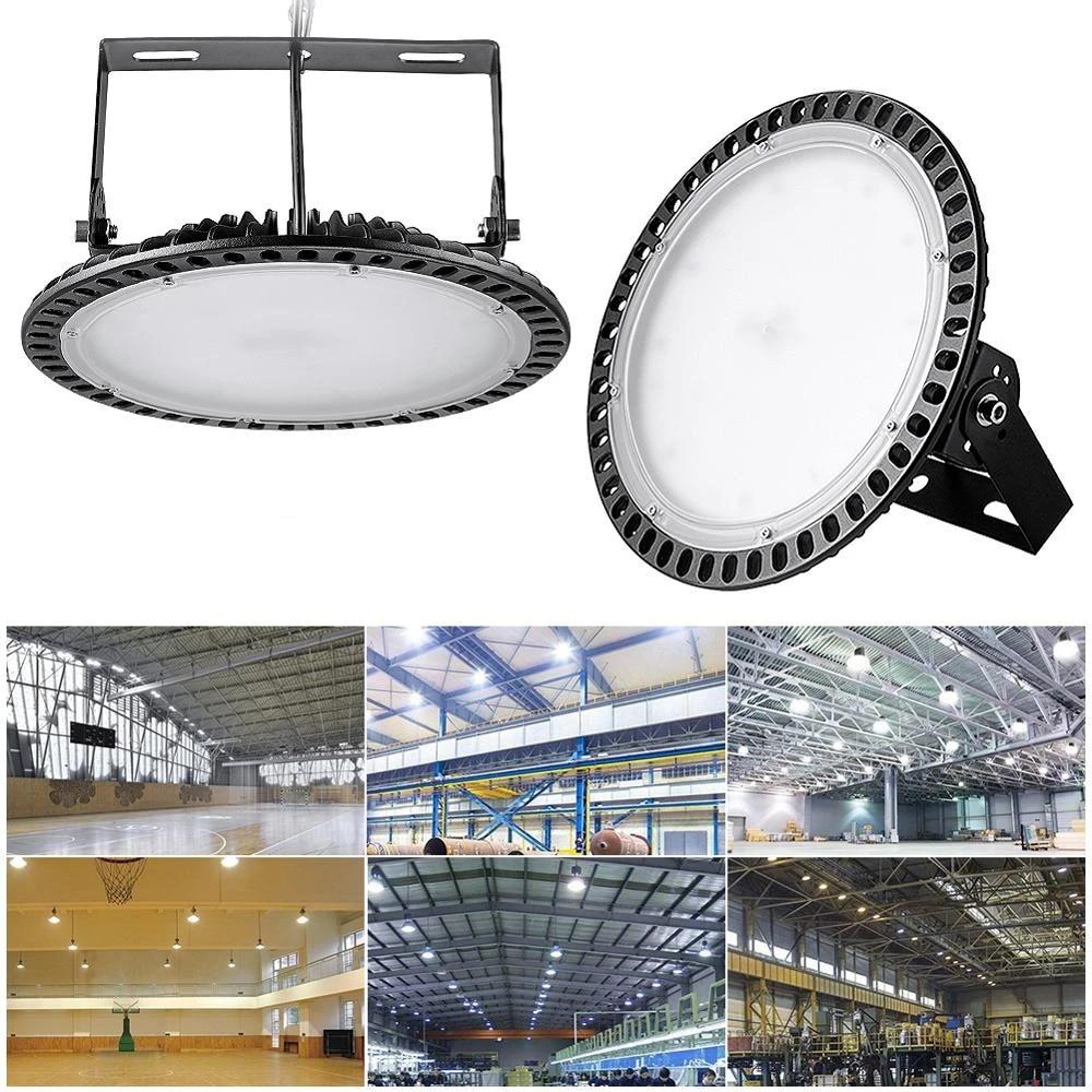 100w 200w 300w ultraslim ufo led high bay lights ac 220 240v ip20 commercial lighting industrial warehouse led high bay lamp