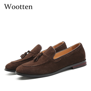 Image 1 - Zapatos informales de 37 48 para hombre, mocasines de lujo elegantes y cómodos de talla grande, mocasines transpirables de marca para hombre #181