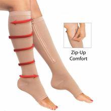 Компрессионные носки на молнии с открытым носком лучшие поддерживающие