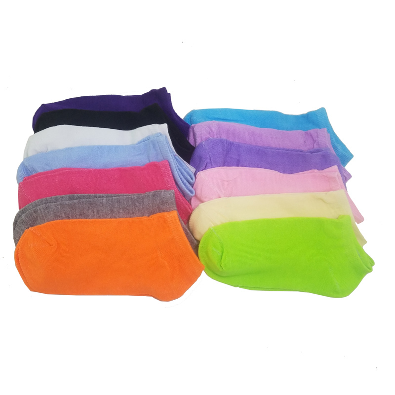 Warm comfortable cotton bamboo fiber girl women's socks ankle low female invisible  color girl boy hosiery 1pair=2pcs WS03-7