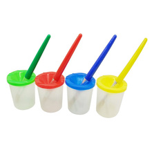 Pędzle malarskie dla dzieci zestaw filiżanek do czyszczenia dopasowane kolorystycznie pędzle malarskie zestaw dla dzieci narzędzia do rysowania tanie tanio Z tworzywa sztucznego paintting tools Unisex Rysunek zabawki zestaw 3 lat