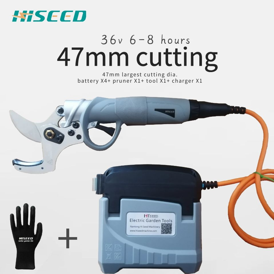 Electric Secateurs 45mm Largest Cutting Diamter Pruner, Pruning Shear EC Certificated Lithium Battery Scissors