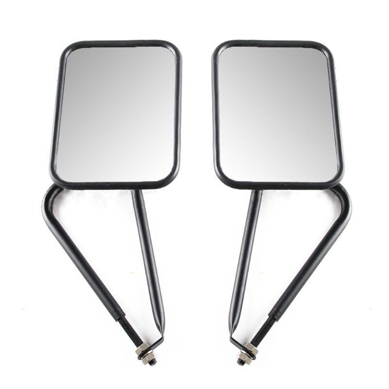 Otomobiller ve Motosikletler'ten Ayna ve Kapaklar'de Modifiye a pillar dikiz aynası RR dikiz aynası Jeep Wrangler için kare ayna hızlı bırakma dikiz aynası araba Accessori title=