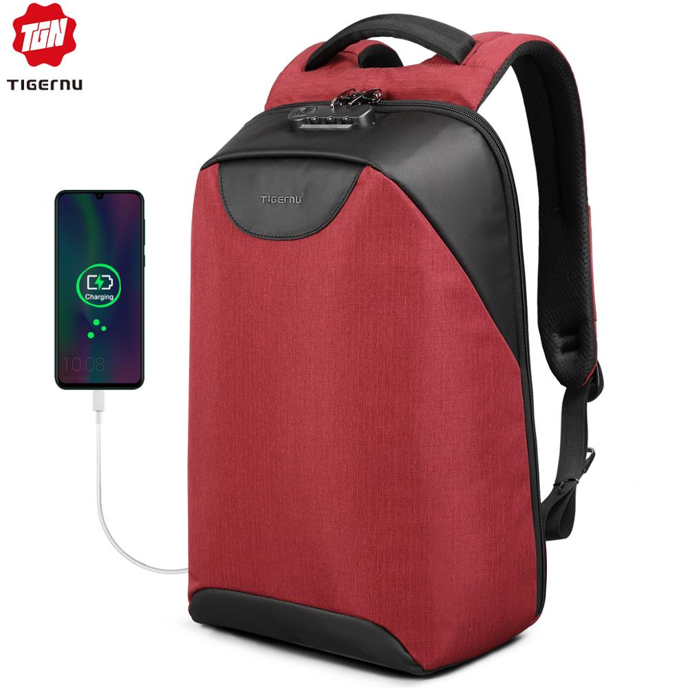 Fashion TSA Lock 15.6 Inch Women Anti Theft Travel USB Female Backpacks For Teenagers Waterproof School Vintage Female Mochilas