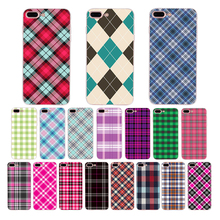 HOUSTMUST Soft phone case for iphone x xr 7 6s 8 6 plus xs max 5 10 se 5s cover Luxury shell Plaid fabric texture pattern design