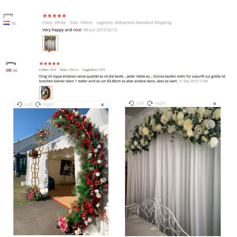 Image 5 - 50/100cm DIY wedding flower wall arrangement supplies silk peonies rose artificial flower row decor wedding iron arch backdropArtificial & Dried Flowers   -