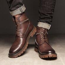 Fashion Waterproof Flat Shoes Men Black Rainboots Rubber Ankle Boots Buckle Boats Winter snow shoes Size 44 *68726