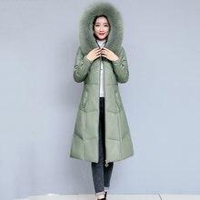 Верхняя одежда зимняя модная куртка женская кожаная новинка