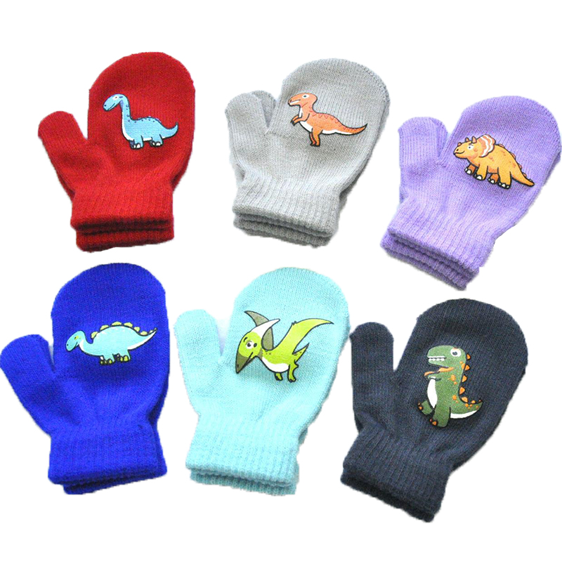 6 Colors 6 Pairs Baby Toddler Mittens Winter Warm Thick Gloves Lined Fleece Gloves for Baby Boys Girls