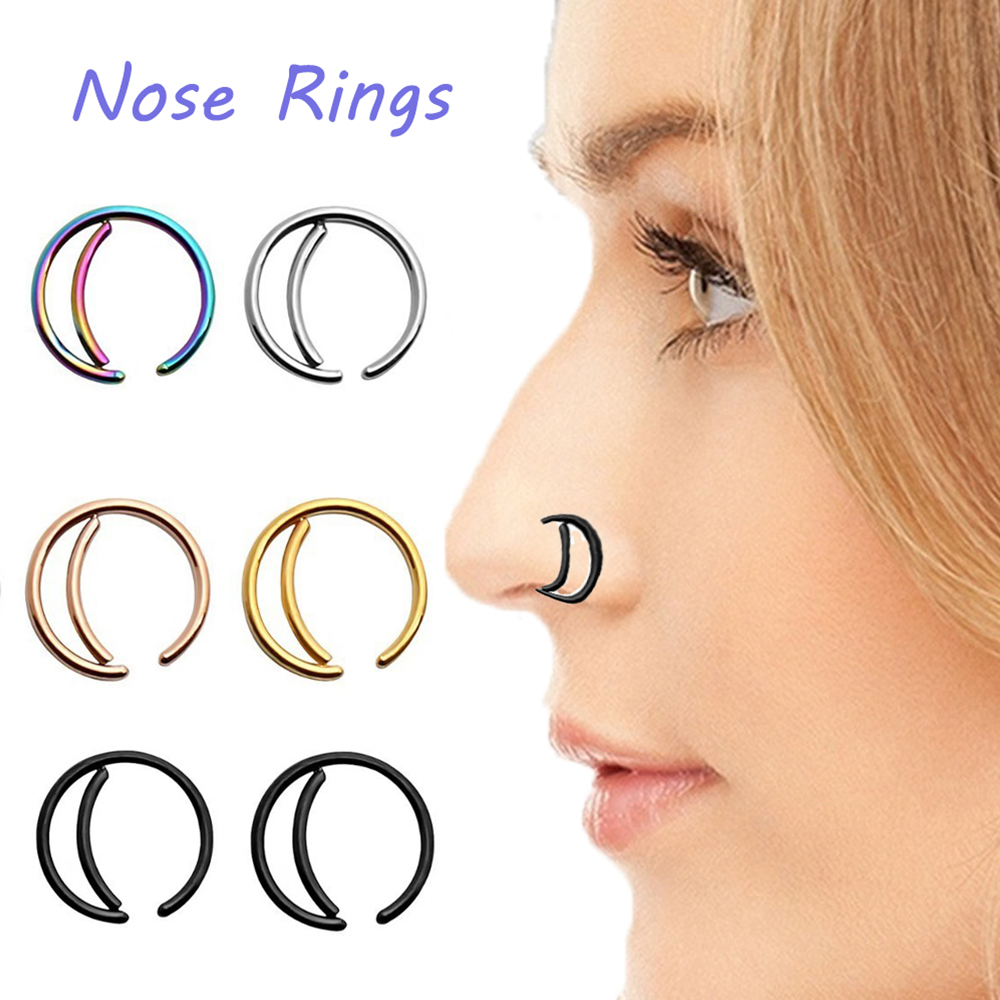 Body Piercing Jewelry New Style Surgical Steel Indian Nose Rings