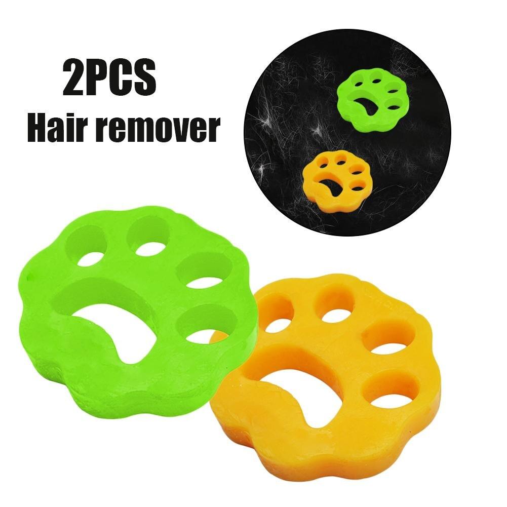2PCS Cleaning Ball Washing Machine Depilator Pet Hair Clothing Hair Remover Dryer Machine Pet Hair Removal Pad