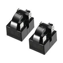 2 Pcs 22 Ohm 3 Pin Refrigerator PTC Starter Relay Black 2 pcs 15 ohm 1 pin refrigerator ptc starter relay black