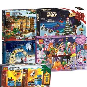 New Friends Advent Calendar Star Space Warsing City Christmas Toys Gift For Children Building Block Bricks