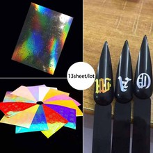 13sheet/lot Letter 3d Nail Art Sticker Nail Decal Letters Words Character Nail Adhesive Sticker Decals Nail Decoration DIY