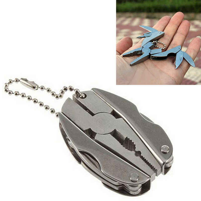 2020 Portable Stainless Steel Outdoor Portable Multitool Pliers Knife Keychain Screwdriver Mini Pliers Herramientas Multi Tools