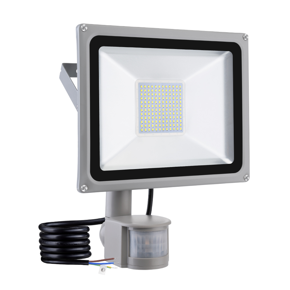 10W <font><b>20W</b></font> 30W 50W 100W <font><b>Led</b></font> Flood Light Cool White <font><b>Floodlights</b></font> IP65 PIR Motion Detector Outdoor Lighting Spotlights Garden Lamp image