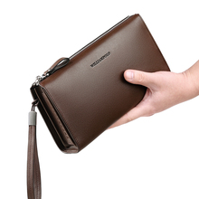 Men's leather clutch bag business fashion large capacity clu