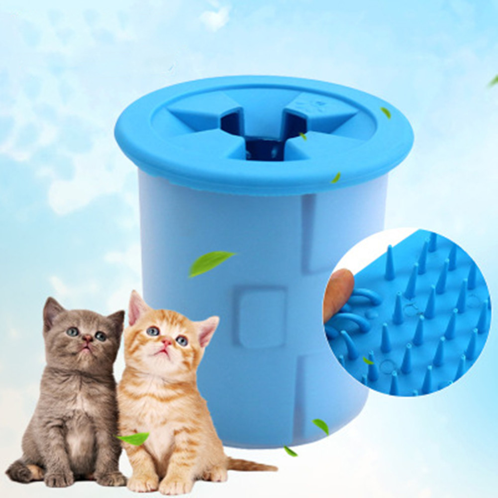 Pet Foot Wash Cup <font><b>Dog</b></font> Cat <font><b>Paw</b></font> <font><b>Cleaner</b></font> Puppy Feet Cleaning Kitten Dirty <font><b>Paws</b></font> Quickly Washer Brush Pet Grooming Tool image