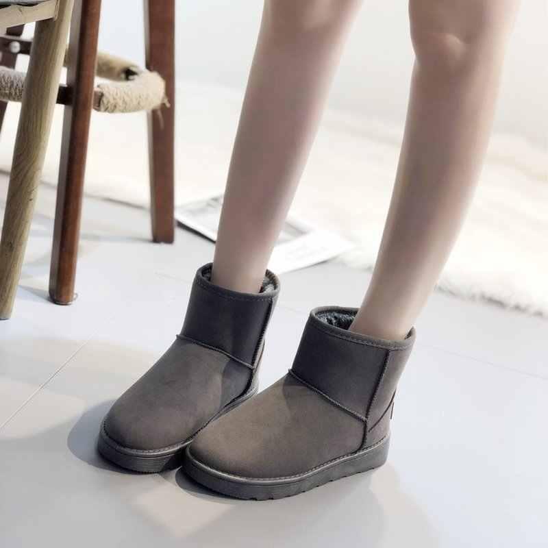 Neue Top Qualität Klassische Flock Frauen Schnee Stiefel Stiefeletten Warm Halten Winter Plattform Stiefel Frau Schuhe Bota Feminina