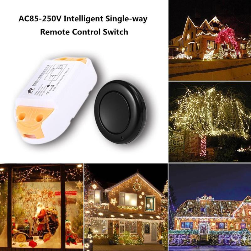 Intelligent 1CH Remote Control Panel Transmitter Module+ReceiverUniversal Wireless 433MHz AC85-250V Gate Garage Door Auto