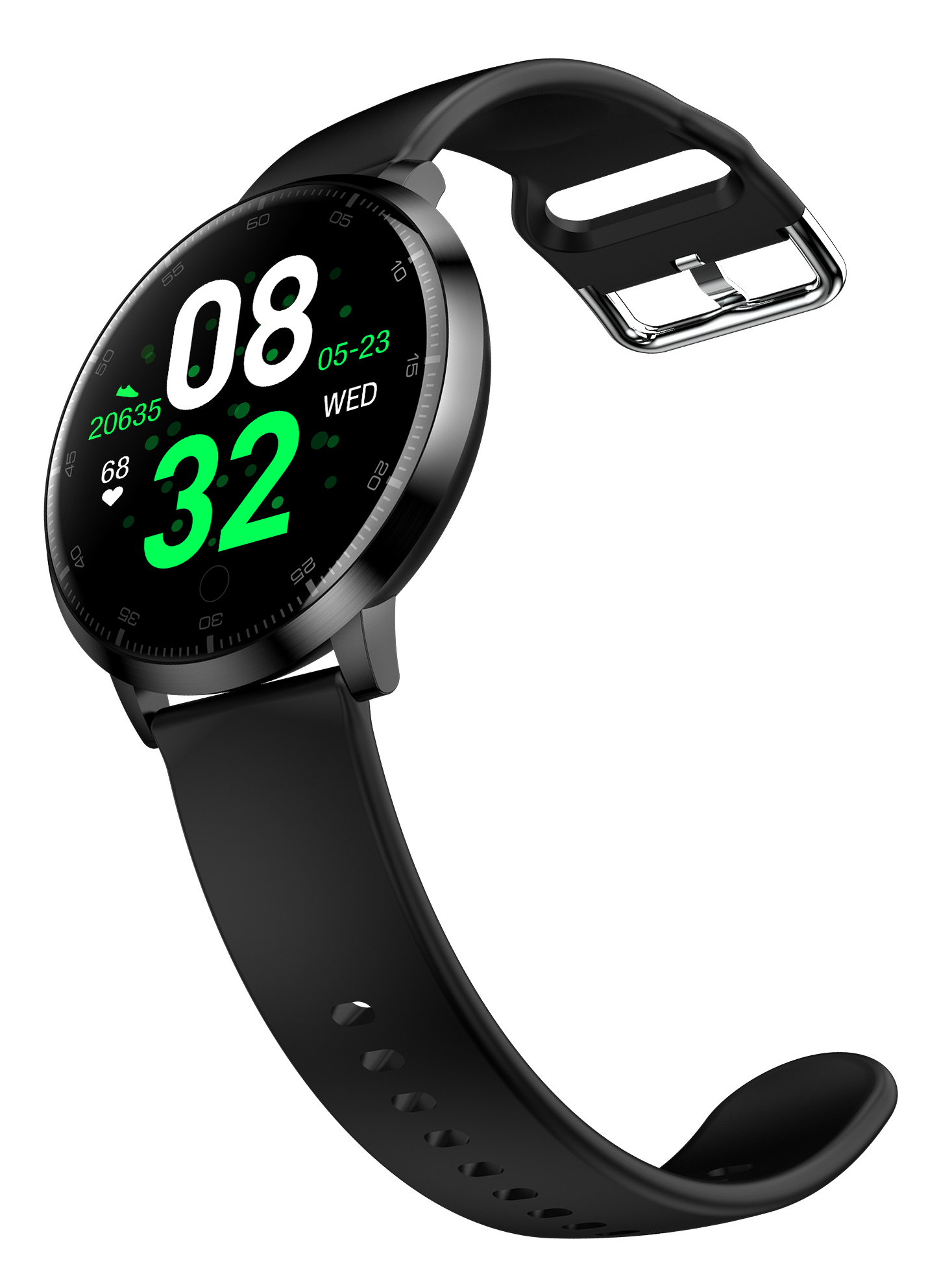 Smartwatch K12 Blood Pressure Heart Rate Monitor Life Waterproof Smart Watch with Message Reminder Call Reminder  Alarm Clock